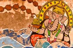 Graffiti dell'indiano Dio Fotografia Stock Libera da Diritti