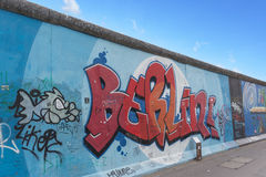 Graffiti della galleria lato est/del muro di Berlino Immagine Stock Libera da Diritti