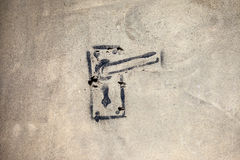 Graffiti della maniglia di porta Fotografia Stock Libera da Diritti