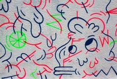 Graffiti della parete Fotografia Stock