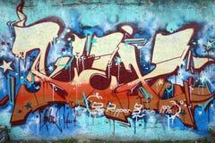 Graffiti della parete Immagini Stock Libere da Diritti