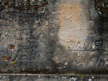Graffiti della prigione, Brasile. Fotografie Stock