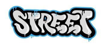 Graffiti della via illustrazione di stock