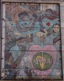 Graffiti della via, Johannesburg Fotografia Stock