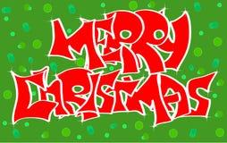 Graffiti der frohen Weihnachten Lizenzfreie Stockfotografie