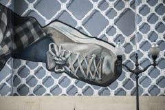 Graffiti in der Straße Stockbilder