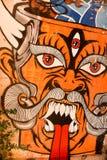 Graffiti des Teufels stockfotos