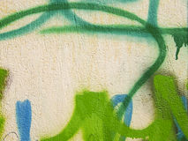 Graffiti detail. Graffiti on the street wall in diferent colors Stock Photography