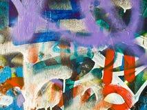 Graffiti detail. Graffiti color detail on a wall. Urban scene royalty free stock photo