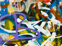 Graffiti detail. Graffiti color detail on a wall. Urban scene Royalty Free Stock Images