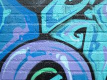 Graffiti Detail. Painted Wall: Colorful Abstract Pattern in Detail of Graffiti royalty free stock photo