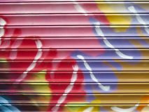 Graffiti Detail. Painted Wall: Colorful Abstract Pattern in Detail of Graffiti royalty free stock photography