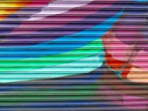 Graffiti Detail. Painted Wall: Colorful Abstract Pattern in Detail of Graffiti stock image