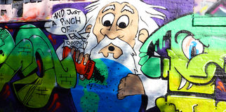 Graffiti di Christiania Immagini Stock Libere da Diritti