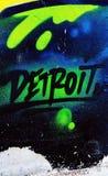 Graffiti di Detroit immagine stock libera da diritti