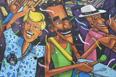 Graffiti di Lapa Rio de Janeiro Brazil Street Art Fotografia Stock