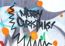 Graffiti di natale Fotografia Stock