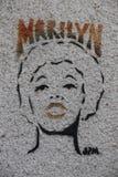 Graffiti di Parigi fotografia stock libera da diritti