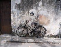Graffiti di Penang sulla parete per voi fotografie stock libere da diritti