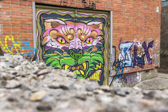 Graffiti di rabbia fotografie stock libere da diritti