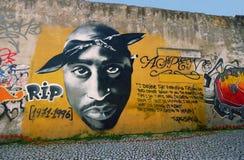 Graffiti di Tupac Shakur Fotografie Stock Libere da Diritti