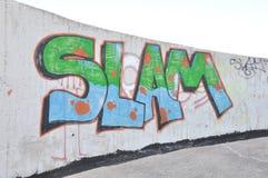 Graffiti di Wall Street di colpo Fotografie Stock Libere da Diritti
