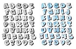 Graffiti die 3d Geborsteld Metaal Chrome van letters voorzien Royalty-vrije Stock Afbeeldingen