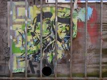 Graffiti die Laurier afschilderen & Sterk Stock Fotografie