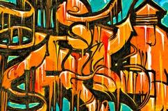 Graffiti die op de breackwatermuur bij Haven o wordt geschilderd Royalty-vrije Stock Foto