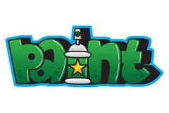 graffiti Dipinga la parola Fotografia Stock Libera da Diritti