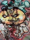 Graffiti divertenti del fronte immagine stock