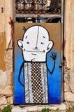 Graffiti divertenti dell'estratto del fumetto Fotografia Stock