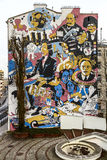 Graffiti dla Fryderyk Chopinowskiego w Warszawa Fotografia Stock