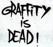 Graffiti is dood teken Stock Afbeelding
