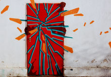 Graffiti door Stock Images