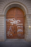 Graffiti door Stock Photos