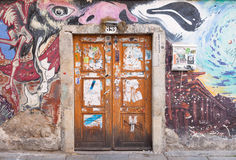 Graffiti Door Royalty Free Stock Photos