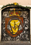 Graffiti Doors in Rome Stock Photography