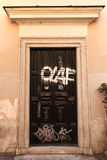 Graffiti Doors in Rome Stock Photo