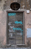 Graffiti Doors in Rome Stock Photos