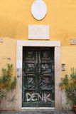 Graffiti Doors in Rome Royalty Free Stock Photo
