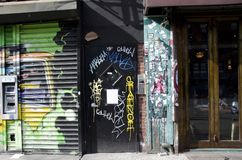 Graffiti Doorway Stock Images