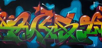 Graffiti drawing with aerosol paints Royalty Free Stock Images