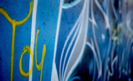 Graffiti drawing on the wall Royalty Free Stock Photo