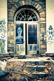 Graffiti drzwi Obrazy Stock