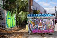 Graffiti dumpster Royalty Free Stock Photography