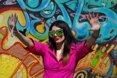 Graffiti dziewczyna Fotografia Royalty Free