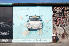 Graffiti at East side Gallery, Berlin Stock Photo