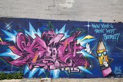 Graffiti at East Williamsburg in Brooklyn Royalty Free Stock Photo