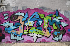 Graffiti at East Williamsburg in Brooklyn Royalty Free Stock Photography